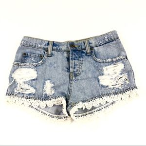 Car Mar Women's Blue Jean Shorts  25